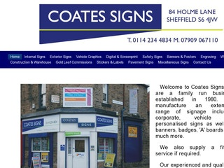 Coates Signs
