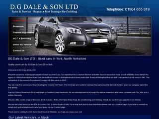 D.G Dale & Son Used Vauxhalls