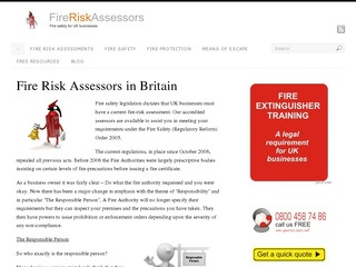 Fire Risk Assessors for the UK