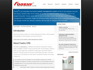 Fooshy Content Management System