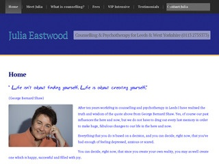 Julia Eastwood Counselling and Psychotherapy