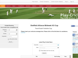 Sheffield Alliance Midweek League Knock Out Cup